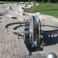 Wasserrad Wasserspielplatz