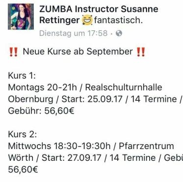 Zumba Kurse