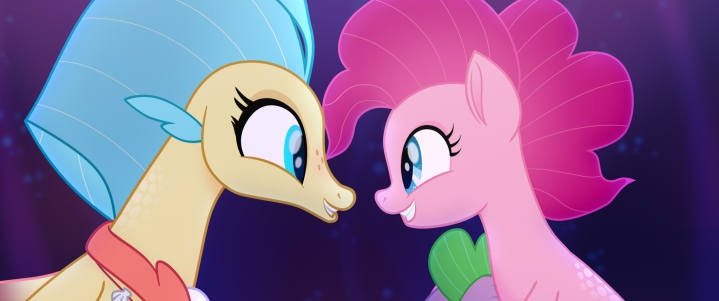 PRINCESS SKYSTAR (Kristin Chenoweth) and PINKIE PIE (Andrea Libman) in MY LITTLE PONY: THE MOVIE.