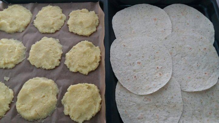 Wrap und Kartoffelpuffer