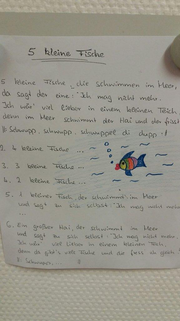 Lied 5 kleine Fische