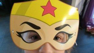 """DC Super Hero Girls Kostüm """"Wonder Woman"""" (die Kostüme wurden von Warner Bros. Entertainment GmbH zur Verfügung gestellt, Werbung) Fotos: Mama Michi"""