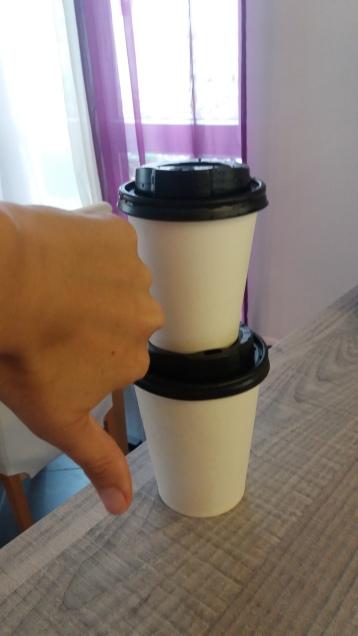 Wegwerfbecher Kaffee sind out