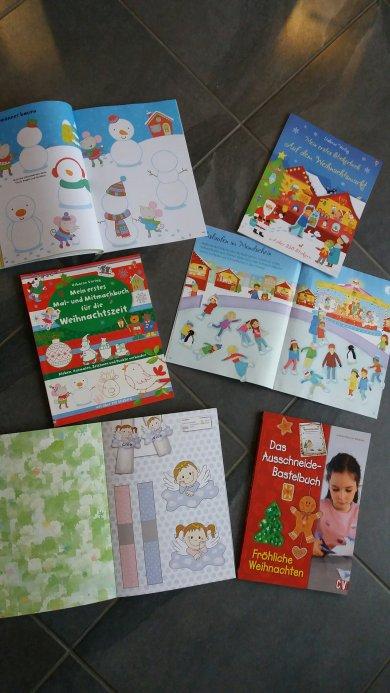 Sticker und Mitmachbücher Weihnachten