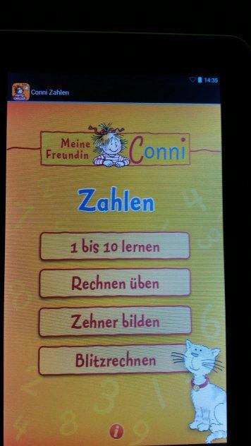 Conni Zahlen App für Kinder