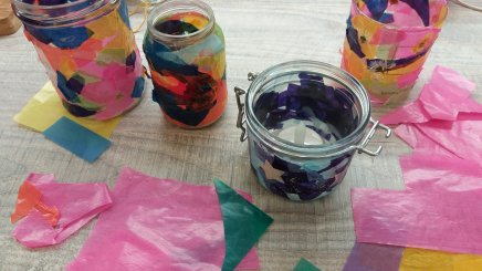 Kerzenhalter aus Altglas