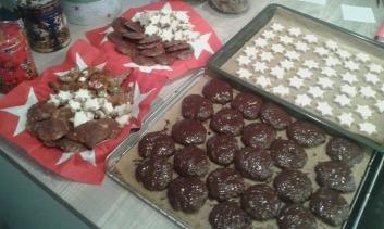 Elisenlebkuchen und Butterplätzchen