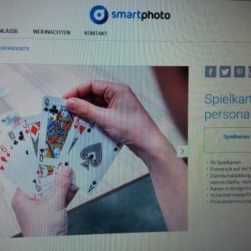 Smartphoto Spielkarten gestalten