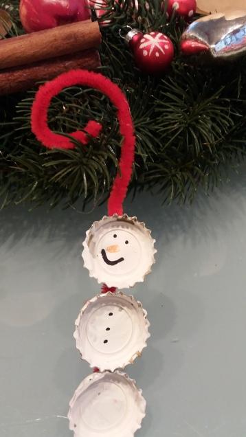 Schneemann aus Kronkorken