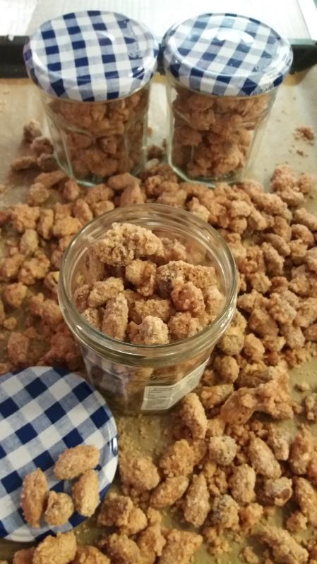 gebrannte Mandeln und Nüsse selber machen
