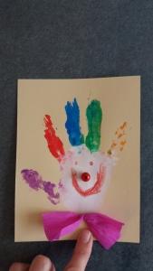 Clowns aus Handabdrücken