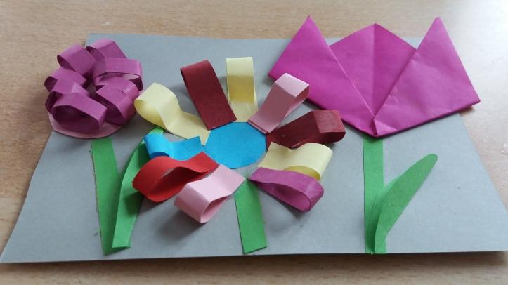 Blumen Karten mit 3-D-Effekt basteln