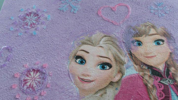 Anna und Elsa mit Serviettentechnik