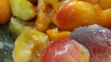 Aprikose-Pfirsich-Lavendel Marmelade