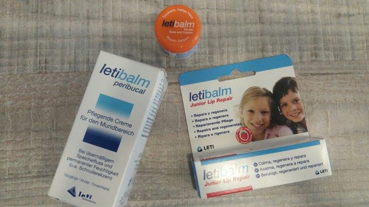 Pflegeprodukte von Leti bei wunden Nasen und Lippen