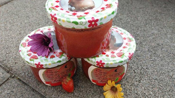 Marmelade mit Foto Etiketten