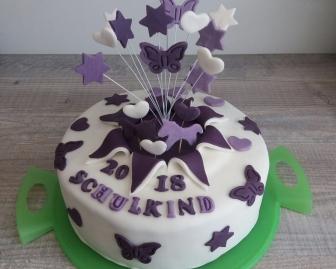 Torte zur Einschulung 2018 mit Cakerella Backboxen