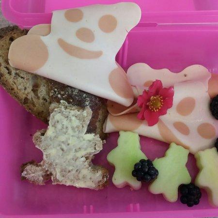 Bärchen Geflügelwurst von Reinert für die Lunchbox