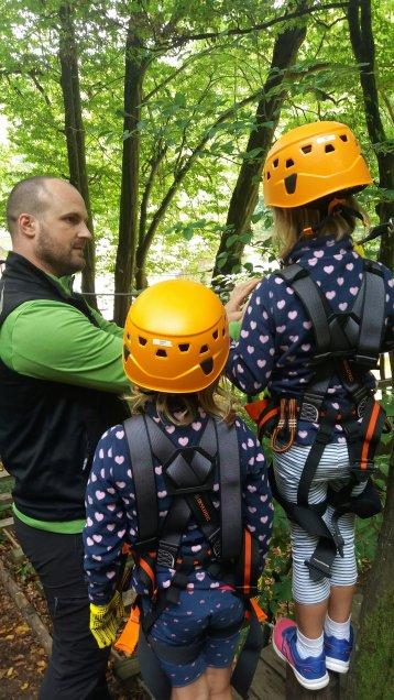 Einweisung Kinderparcour Kletterwald Spessart