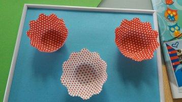 Blumenbilder aus Muffinformen