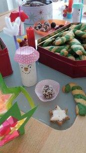 Zuckerstangen backen und Kekspralinen für Weihnachten