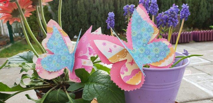 3-D-Karten selber basteln Schmetterlinge
