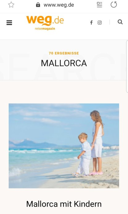 weg.de Mallorca mit Kindern