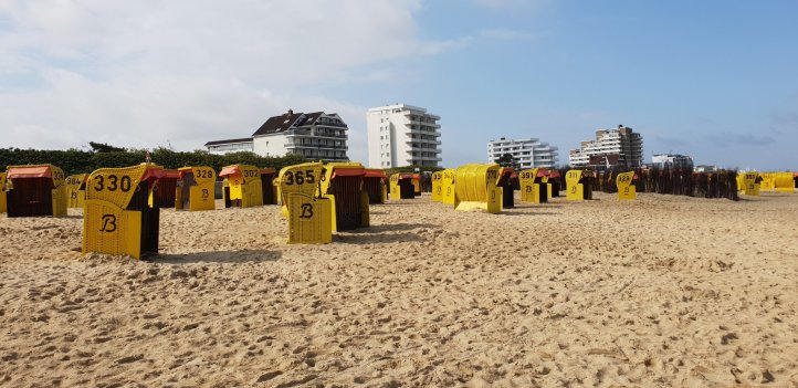 Strandkörbe Nähe Jugendherberge Duhnen Cuxhaven