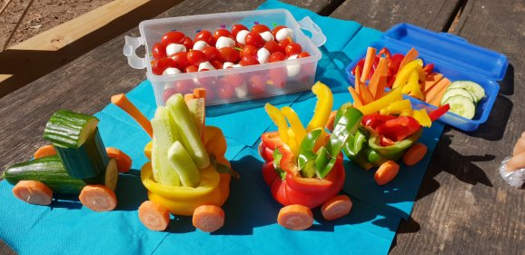 Gemüsezug für Kinder