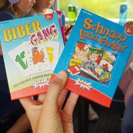 Reisespiele AMIGO, Bibergang und Schnapp,Land,Fluss