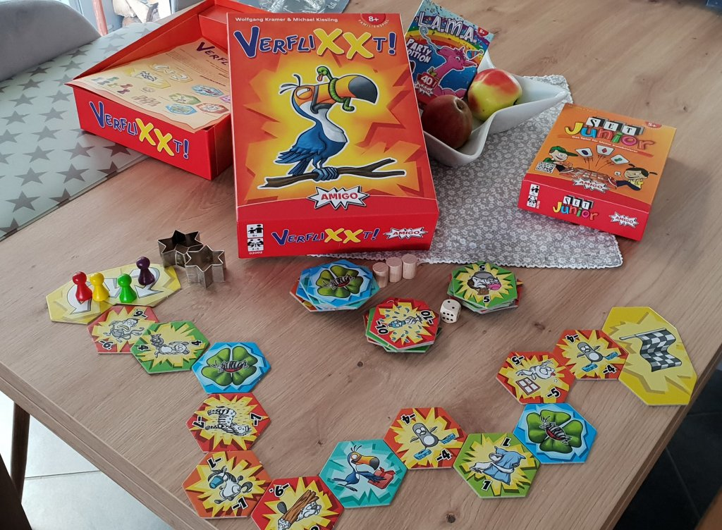 AMIGO Spiele Set Junior, L.A.M.A. Party, VerfliXXt