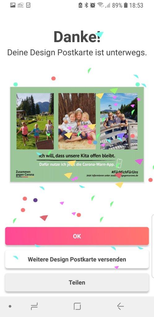 1 Millionen Postkarten gegen Corona MyPostcard